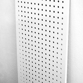 Перфи-панель белая 2000х600 толщина 6 мм с шагом в 25 мм РЕ-5